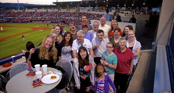 JSG Spokane and The Arc of Spokane at a Spokane Indians Game