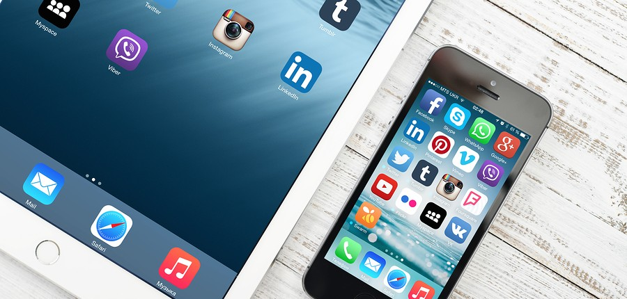 Social Media Icons, job search