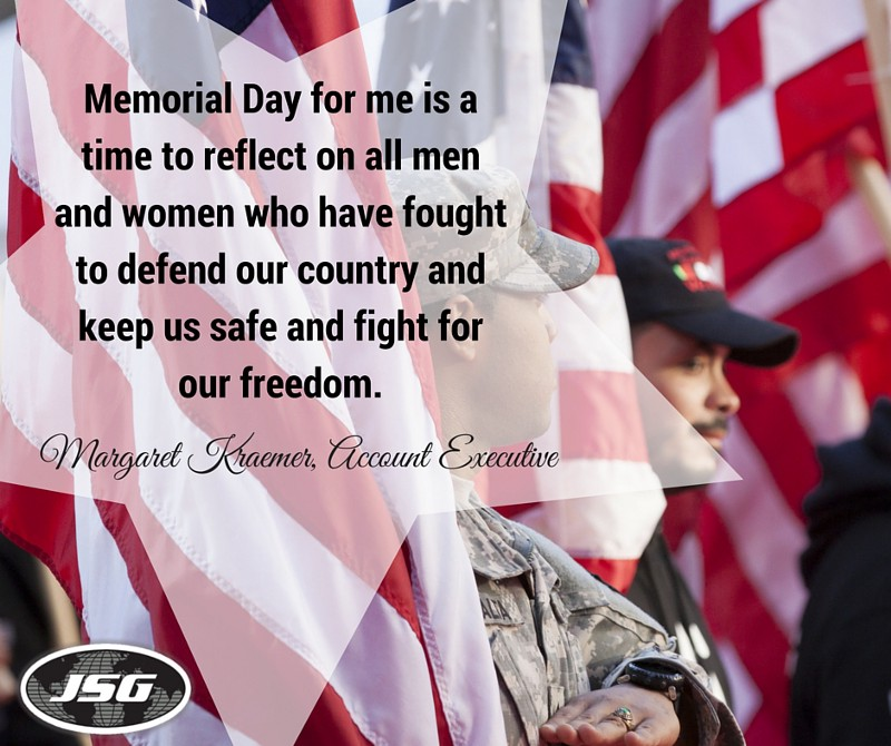 What Memorial Day Means to JSG - Margaret Kraemer