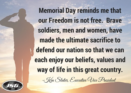 What Memorial Day Means to JSG - Ken Slater