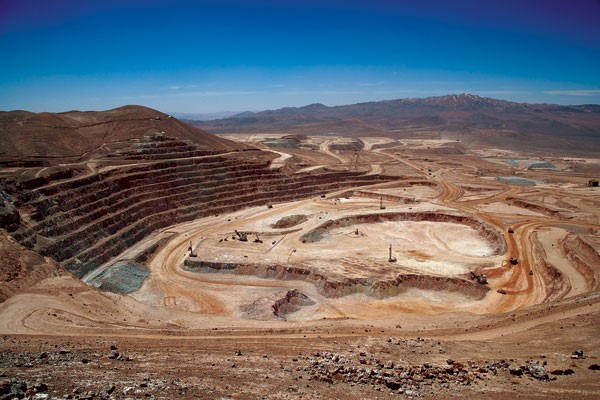 Escondida Copper Mine i Chile
