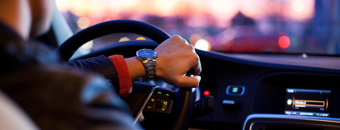 Man commuting to work